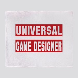 Universal Game designer Throw Blanket