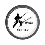 Walk Softly Wall Clock