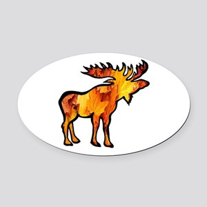 MOOSE Oval Car Magnet