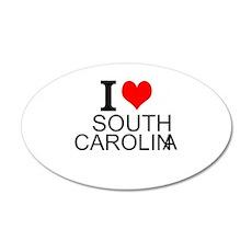 I Love South Carolina Wall Decal