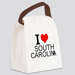I Love South Carolina Canvas Lunch Bag