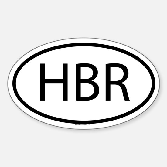 HBR Oval Decal