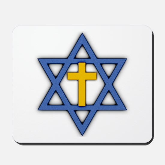 Star of David with Cross Mousepad