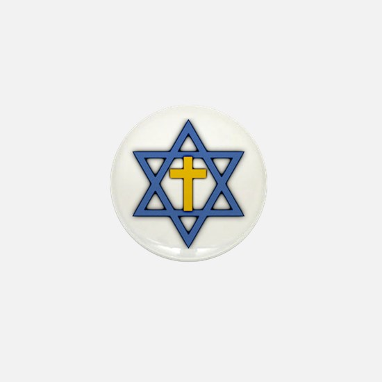 Star of David with Cross Mini Button