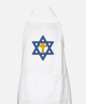 Star of David with Cross BBQ Apron