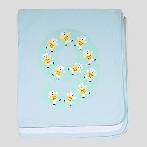 Kolarkub #9 in blue baby blanket