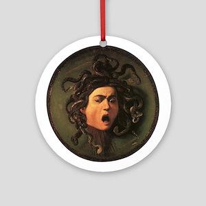 Caravaggio's Medusa Ornament (Round)
