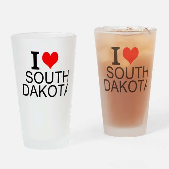 I Love South Dakota Drinking Glass