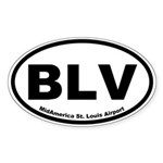 MidAmerica St. Louis Airport Oval Sticker