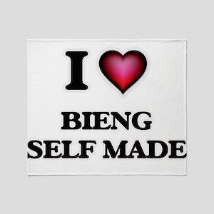 I Love Bieng Self-Made Throw Blanket