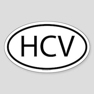 HCV Oval Sticker