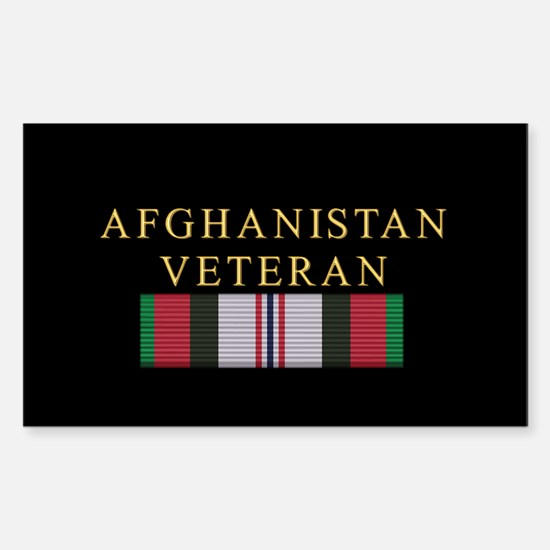 Afghanistan Veteran Rectangle Decal