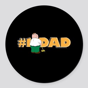 Family Guy #1 Dad Round Car Magnet