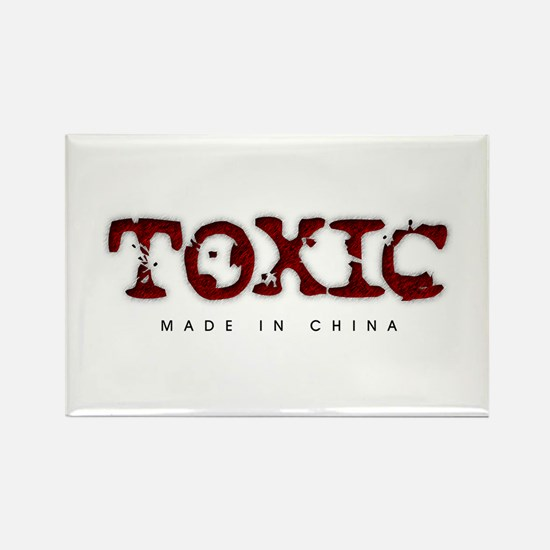Toxic - Made in China Rectangle Magnet