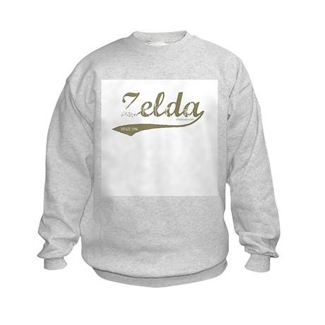 Zelda Old Style Script Kids Sweatshirt