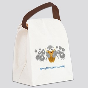 woolly moo in sheep's Canvas Lunch Bag
