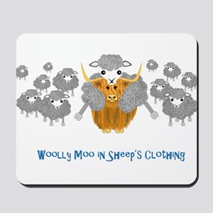 woolly moo in sheep's Mousepad