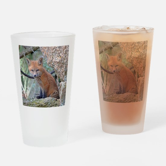 Cute Fox head Drinking Glass