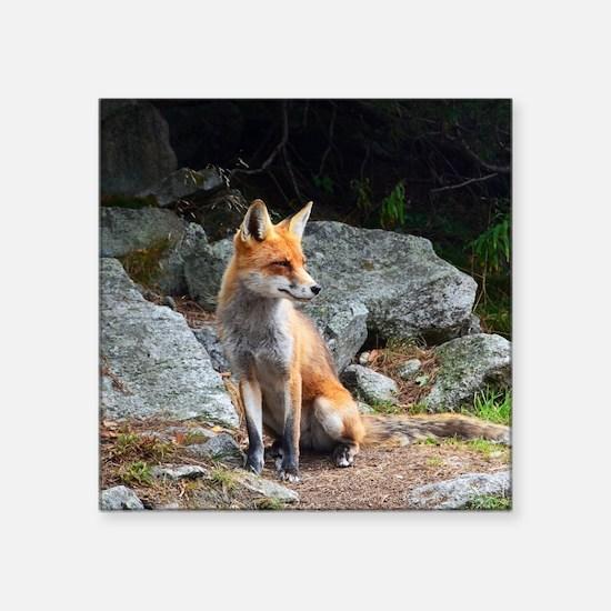 """Unique Fox head Square Sticker 3"""" x 3"""""""