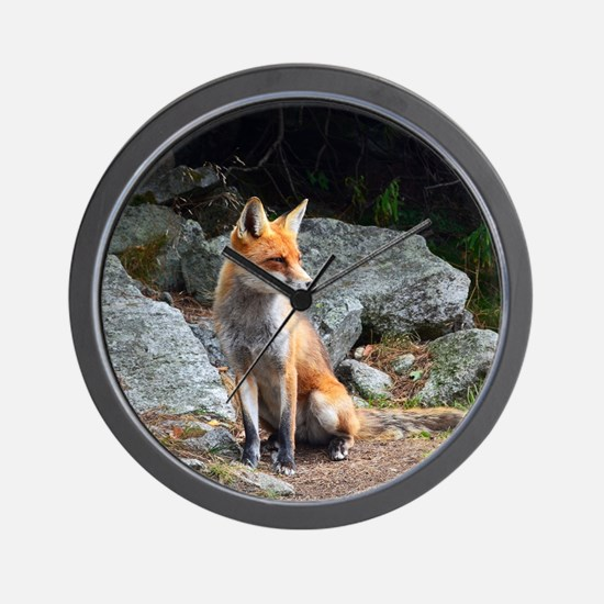 Wildlife Fox Wall Clock