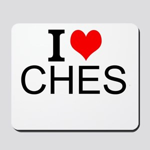 I Love Chess Mousepad