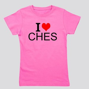I Love Chess Girl's Tee