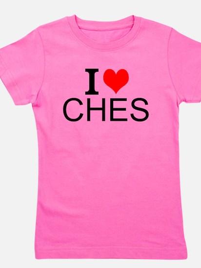 I Love Chess Girl's Tee