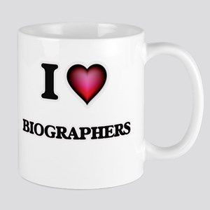I Love Biographers Mugs