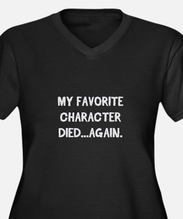 Character Died Again Plus Size T-Shirt