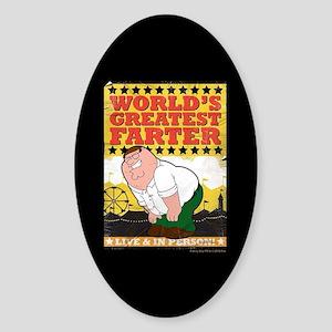 Family Guy World's Greatest Farter Sticker (Oval)