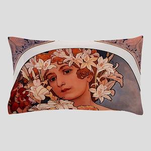 Woman of Mucha Pillow Case