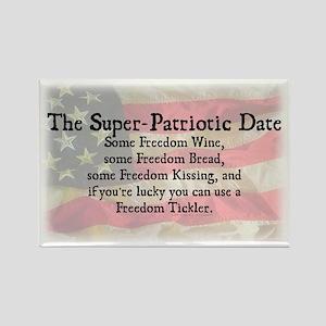 Patriotic Date Rectangle Magnet