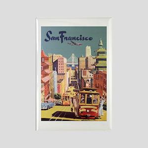Vintage Travel Poster San Francisco Magnets