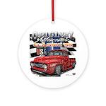 1955 Truck USA Round Ornament