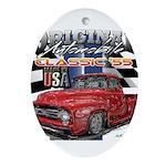 1955 Truck USA Oval Ornament