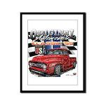 1955 Truck USA Framed Panel Print
