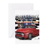 1955 Truck USA Greeting Cards