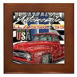 1955 Truck USA Framed Tile