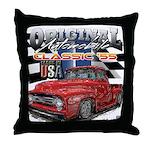 1955 Truck USA Throw Pillow