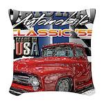 1955 Truck USA Woven Throw Pillow
