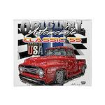 1955 Truck USA Throw Blanket