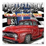 1955 Truck USA Square Car Magnet 3