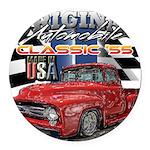 1955 Truck USA Round Car Magnet
