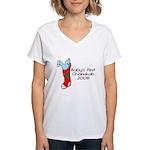 Baby's 1st Chanukah 08 Women's V-Neck T-Shirt