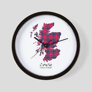 Map - Cowie.Fraser Wall Clock