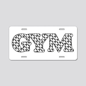 Gym Weight Lifting Pattern Aluminum License Plate