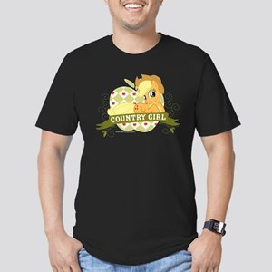 MLP Applejack Country Men's Fitted T-Shirt (dark)