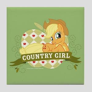 MLP Applejack Country Girl Tile Coaster