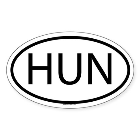 HUN Oval Sticker