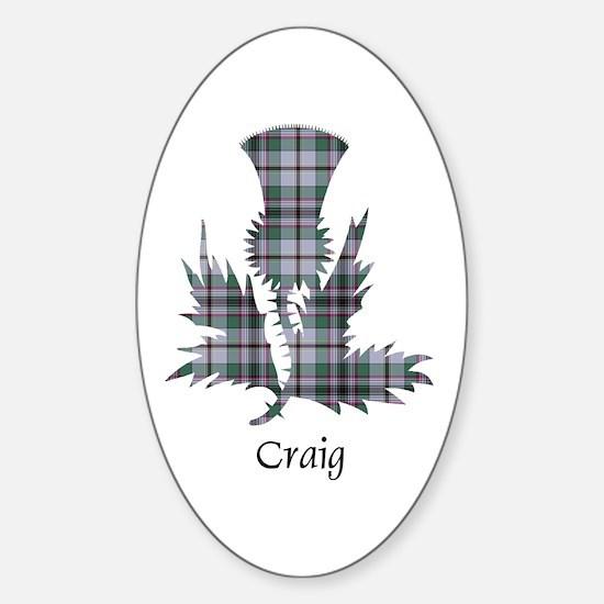 Thistle - Craig Sticker (Oval)